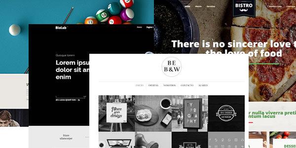 Nuevos diseños añadidos en Diciembre para WordPress